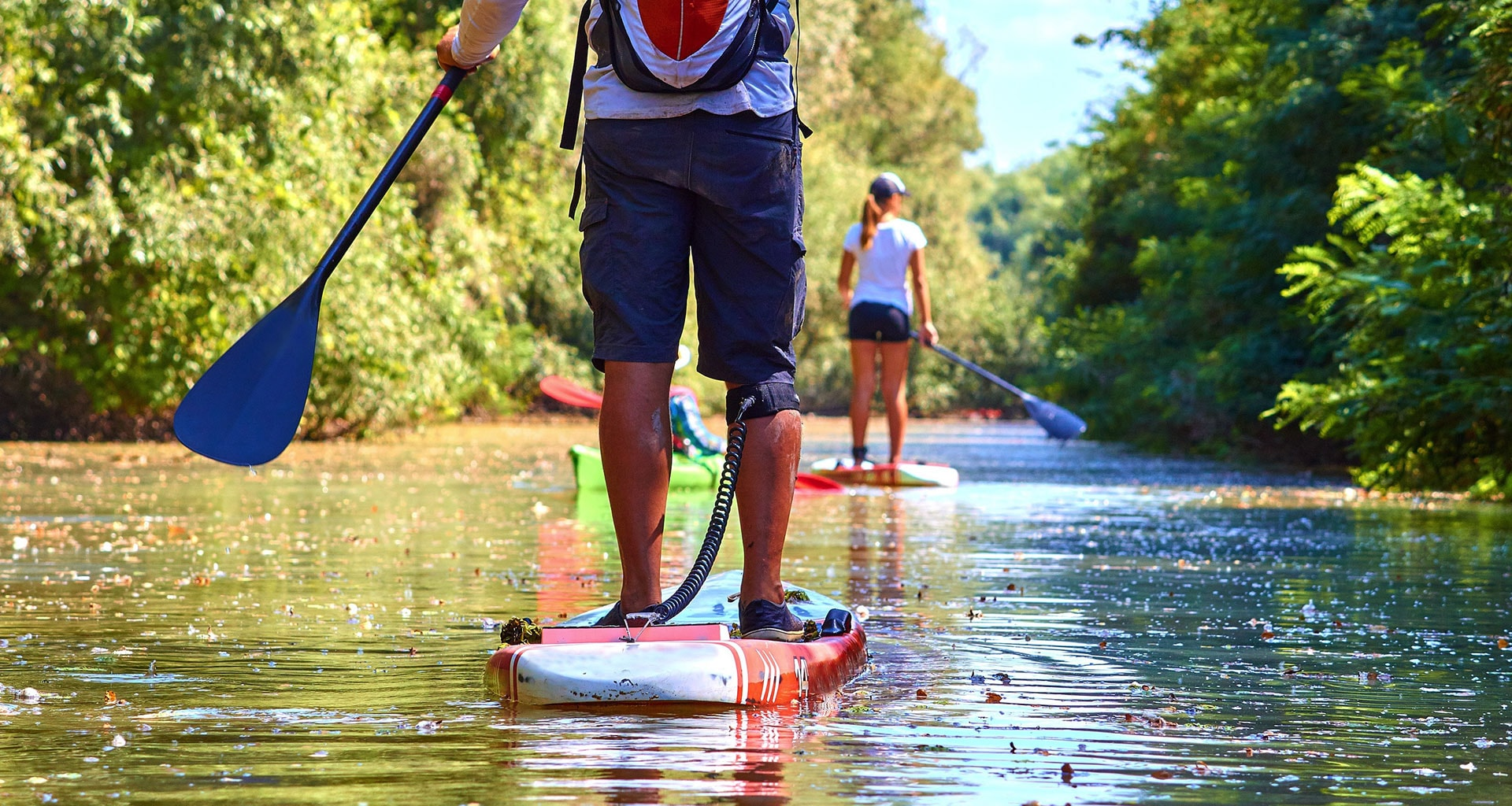 Paddleboard on the River Dart